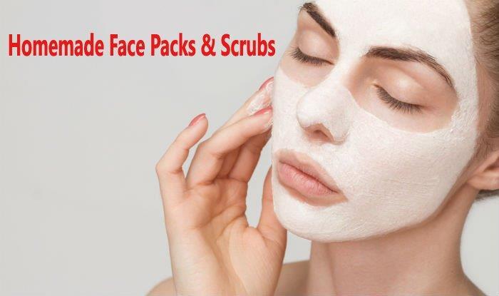 homemade face packs mask